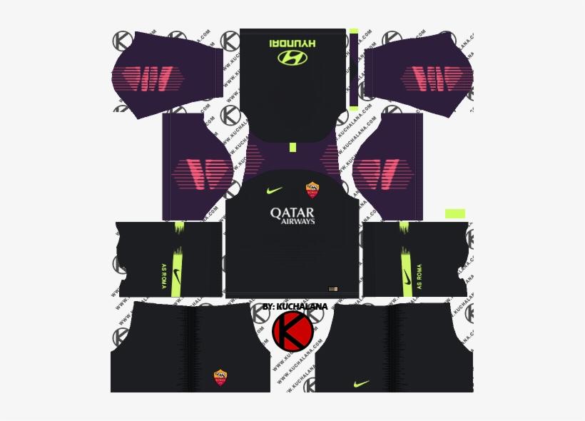 As Roma 2018/19 Kit - Dream League Soccer Kits Psg 2019, transparent png #3971977