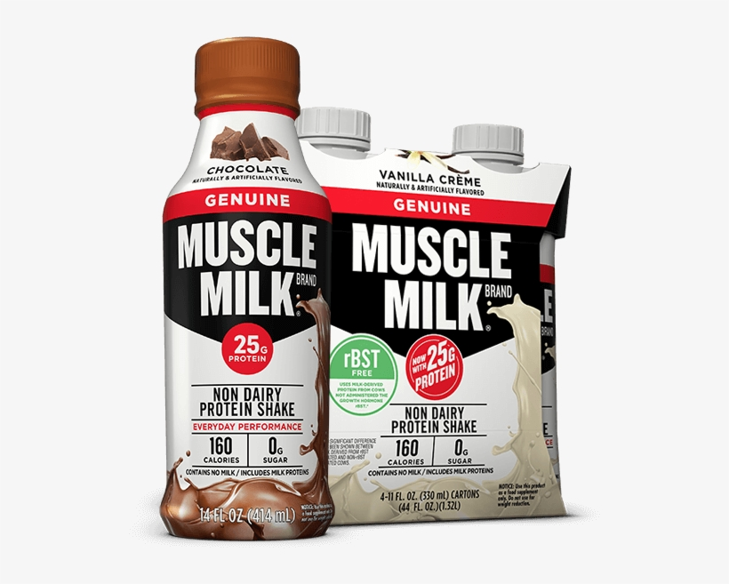 Muscle Millk Genuine Rtd Cover - Muscle Milk Protein Shake, transparent png #3975062