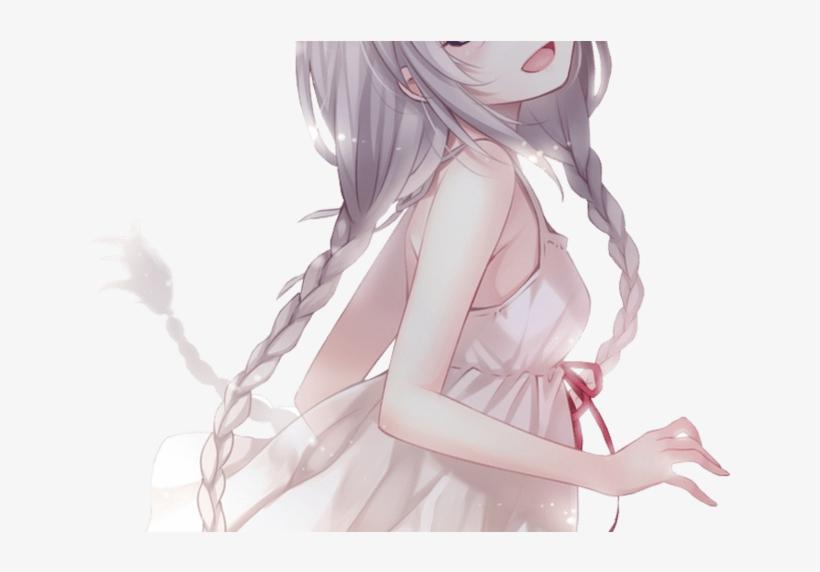 Dancing With Myself Anime Girl Anime Pinterest Anime - Anime Girl White Hair Purple Eyes, transparent png #3976889