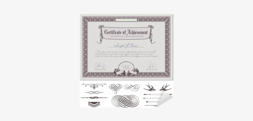 "Romantic Certificate Template Sticker • Pixers® • We - Towcester Certificate Holder - Black 81⁄2""x11"" Quantity(6), transparent png #3976977"