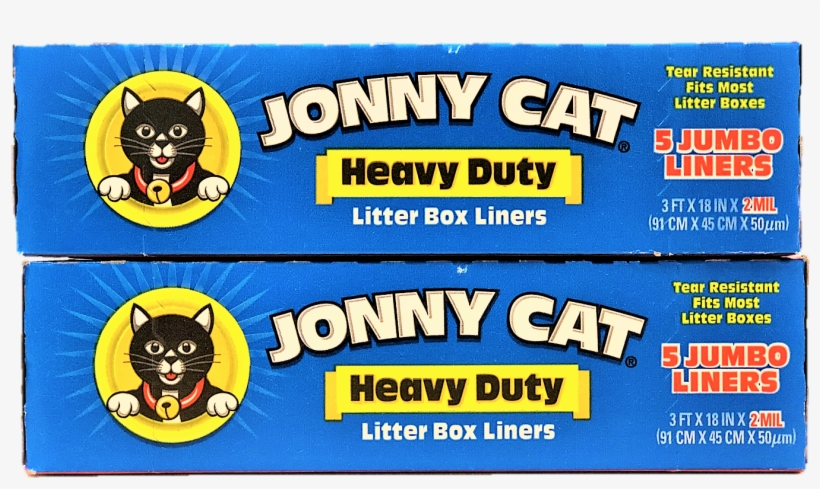 Jonny Cat, Cat Litter Box Liners With Drawstring, Jumbo, - Jonny Cat Litter Box Liners, Heavy Duty, Jumbo - 5, transparent png #3978317