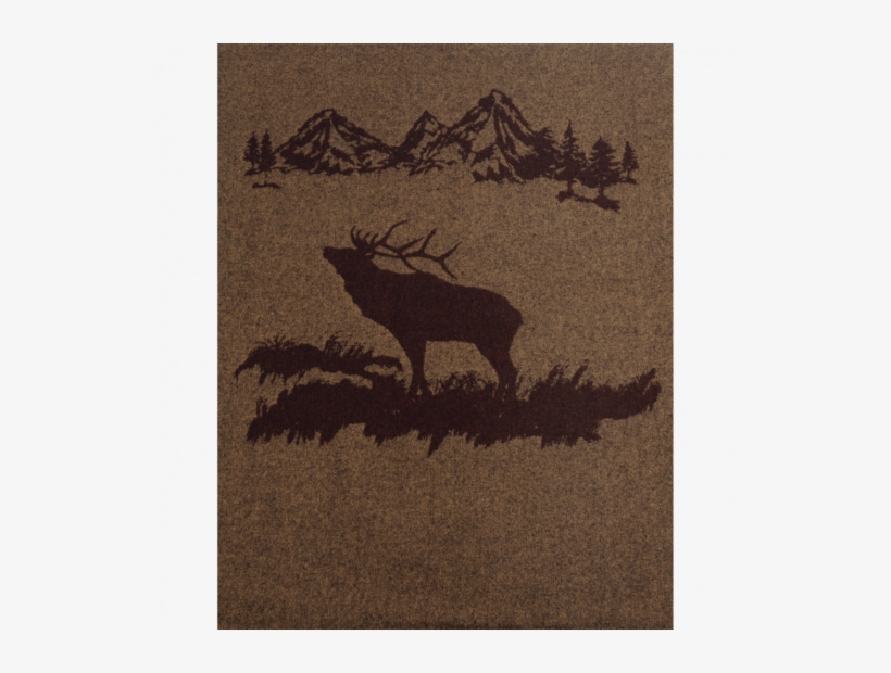 Rocky Mountain Elk Throw - Wooded River Bedding - Rocky Mountain Elk Throw Blanket, transparent png #3979086