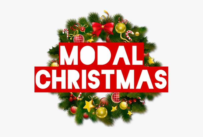 For Modal Britain Christmas Is A Time Rooted In Tradition - Christmas Wreath Clip Art, transparent png #3980003