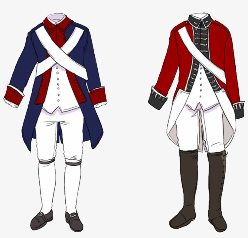 Aph England & America Revolutionary War Outfits Reference - Hetalia Revolutionary War Outfits, transparent png #3981046