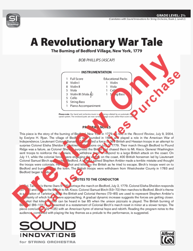 A Revolutionary War Tale Thumbnail A Revolutionary - Walk Of The Silent Zombies Violin 1, transparent png #3981124