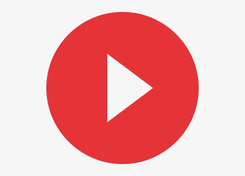 Play Button - Youtube Logo Vector Circle, transparent png #3983416