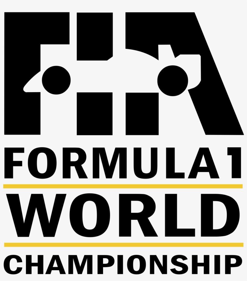 Fia Formula 1 World Championship Logo Png Transparent - Formula 1 Logo Evolution, transparent png #3985475