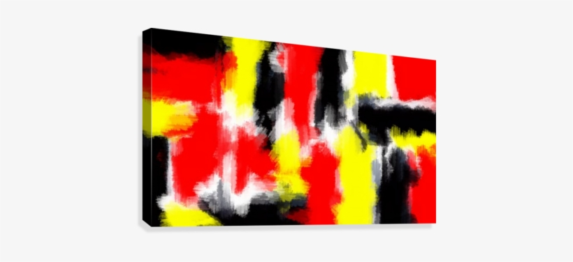 Red Yellow And Black Painting Abstract Texture With - Painting, transparent png #3985952