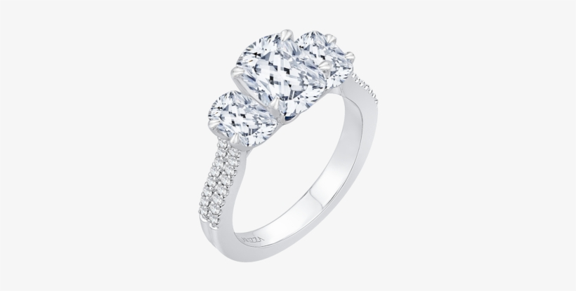 18k White Gold Engagement Ring Cau0190ehk S37w - Halo Diamond Engagement Ring With Matching Band, transparent png #3986696