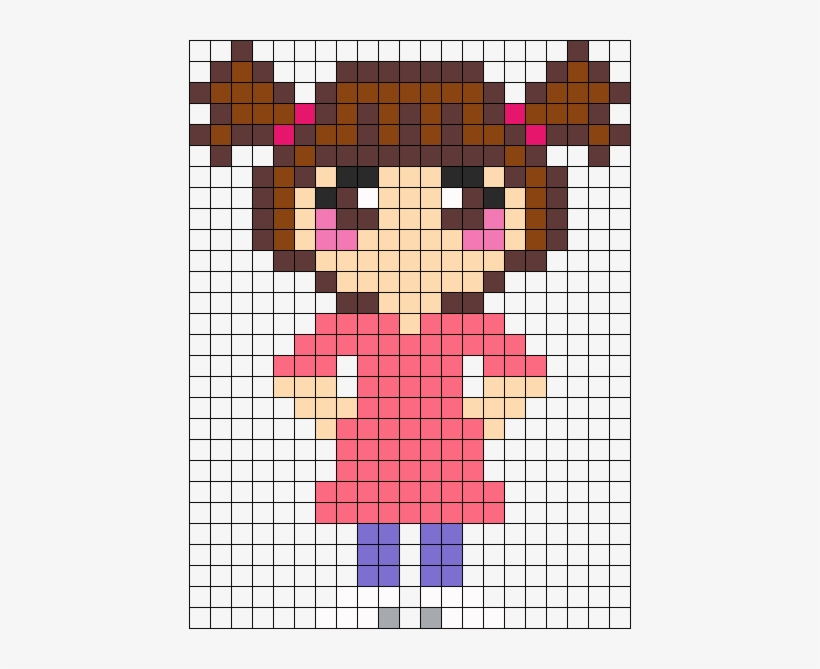 Boo From Monsters Inc Perler Bead Pattern / Bead Sprite - Boo From Monsters Inc Perler Bead, transparent png #3987684