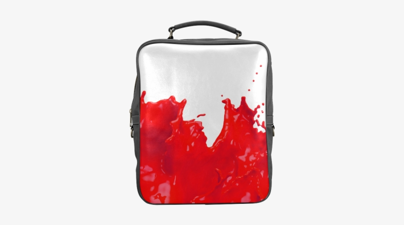 Glossy Red Paint Splash Square Backpack - Olive Green Paint Splatter, transparent png #3992225