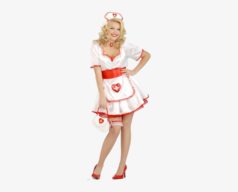 Disfraz De Halloween La Enfermera, Disfraz De Enfermera, - Plus Size Sexy Nurse Adult Costume, transparent png #3996843