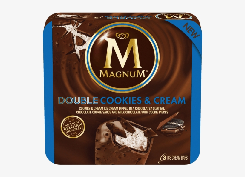 75 For Magnum® Ice Cream Bars - Magnum Double Cookies And Cream, transparent png #3997795