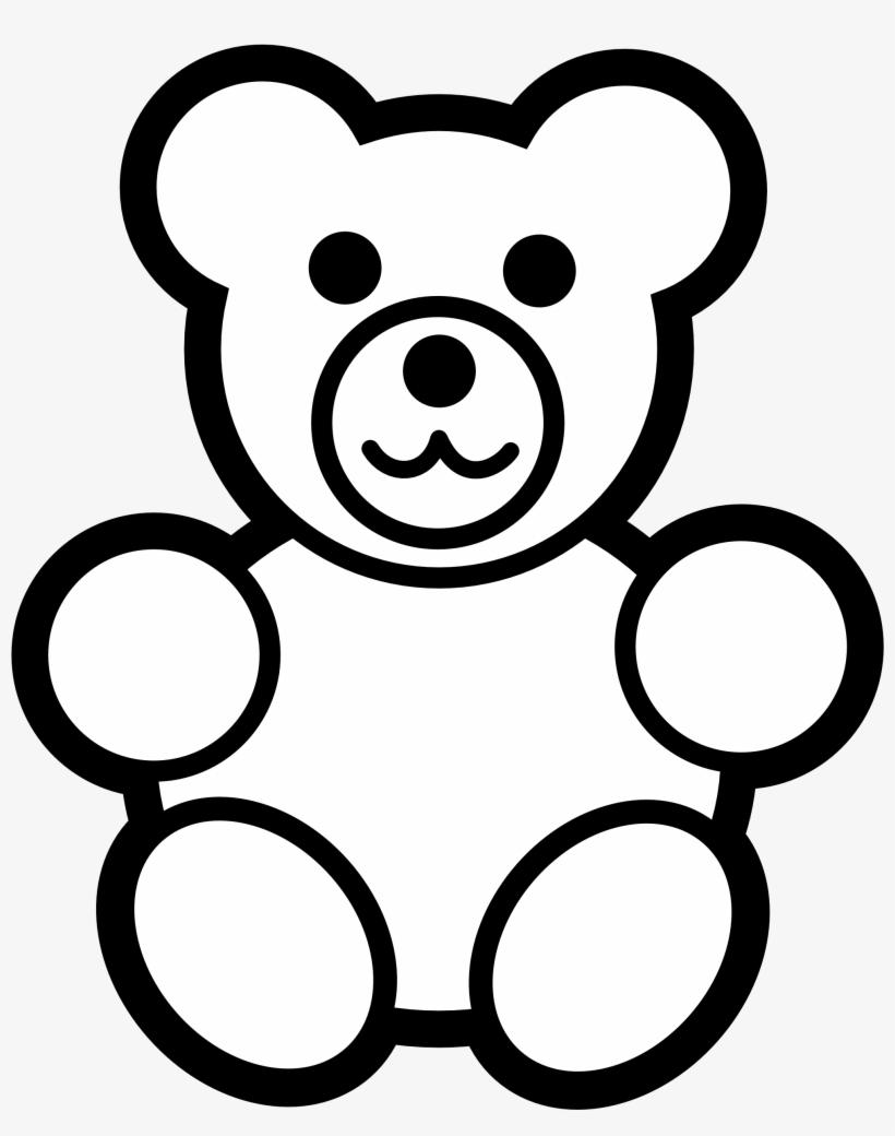 Teddy Bear Stencil Idea For Baby Quilt Teddy Bear Clipart Black