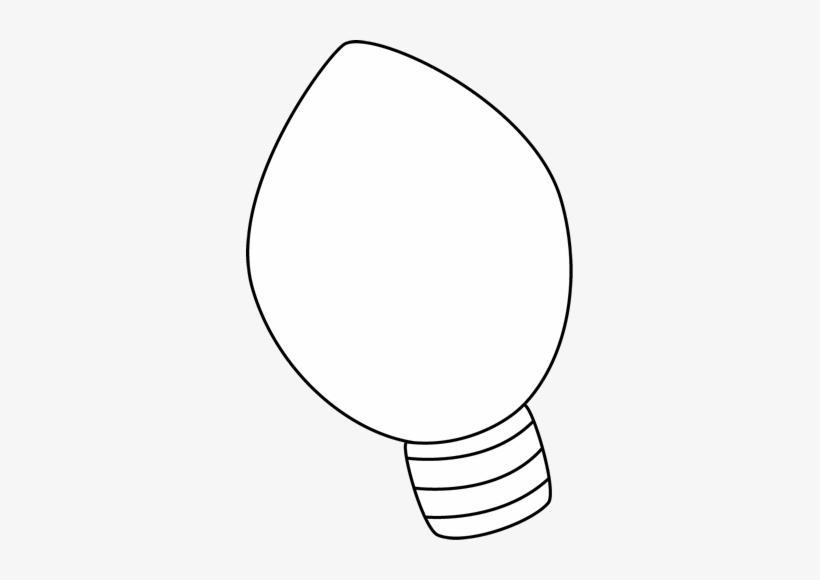 Black & White Christmas Light Clip Art - Christmas Light Black And White, transparent png #40485