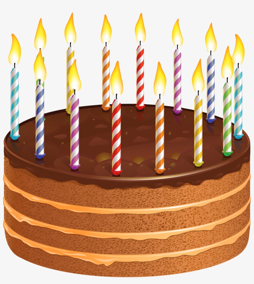 Pastry Clipart Candle Birthday Cake With Candles Png Free