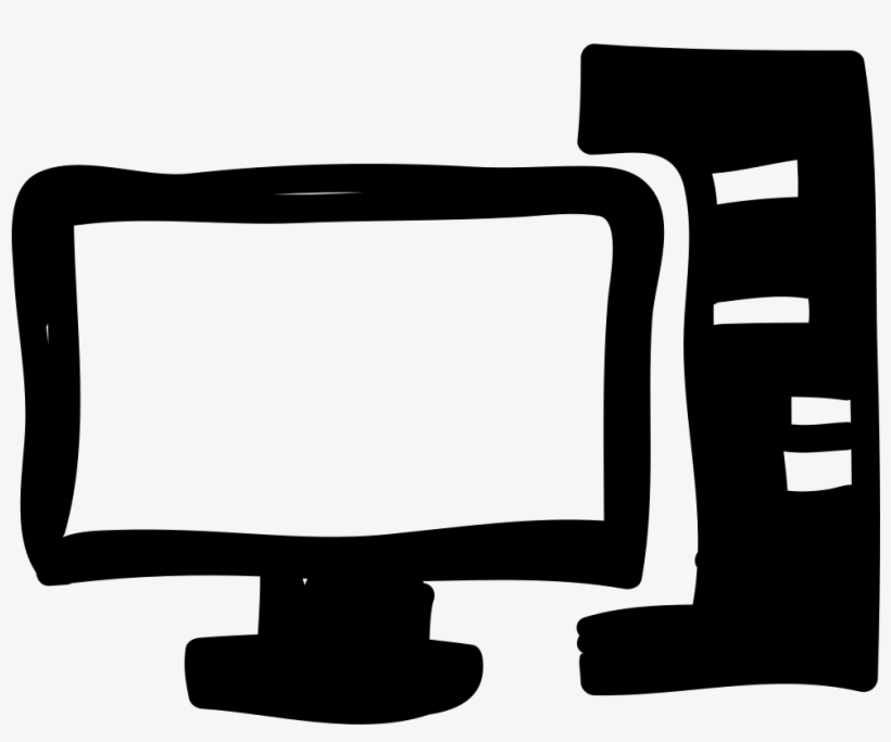 Computer And Monitor Hand Drawn Tools Comments - Hand Drawn Computer Icon Png, transparent png #41410