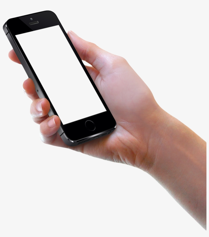 Download Hand Holding Black Iphone Png Image - Mobile In Hand Png, transparent png #41482