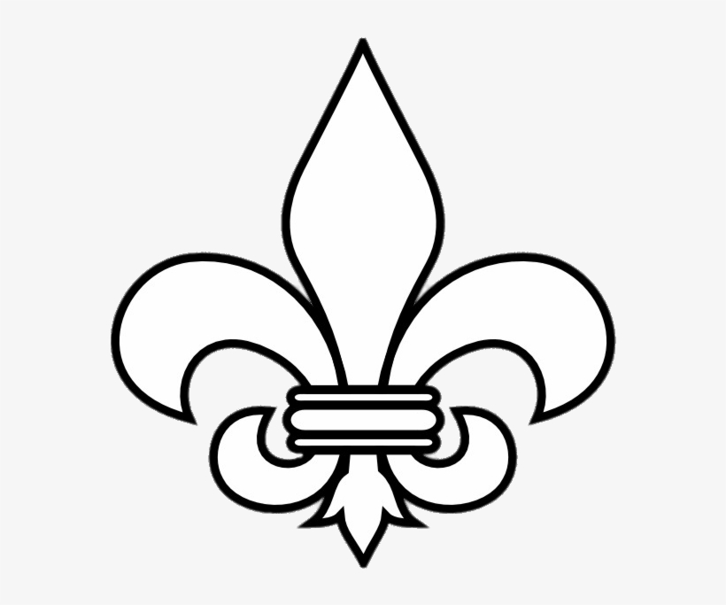 Black And White Fleur De Lis - Fleur De Lis Outline, transparent png #41615