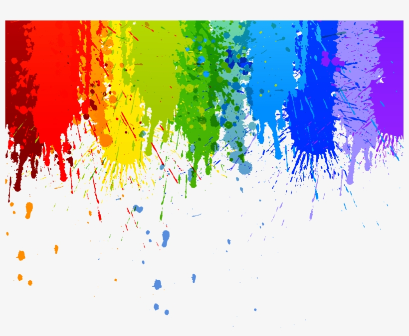 Color Painting Watercolor Splash Background Color Clipart: Colour Splash Drip Transparent Background Watercolor