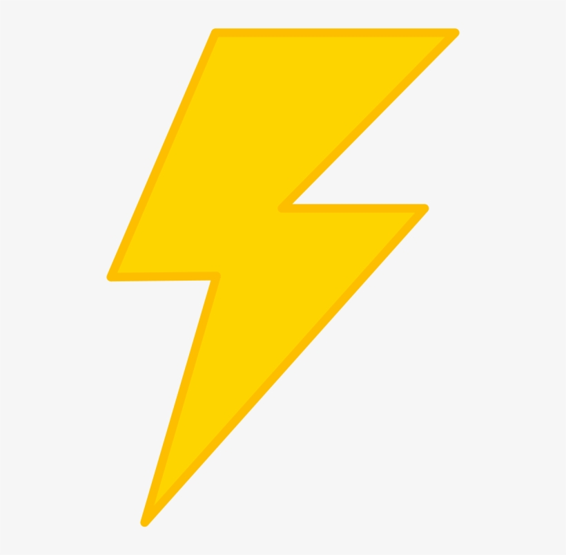 Transparent Backround Lightning Bolt - Lightning Bolt Transparent Background, transparent png #42281