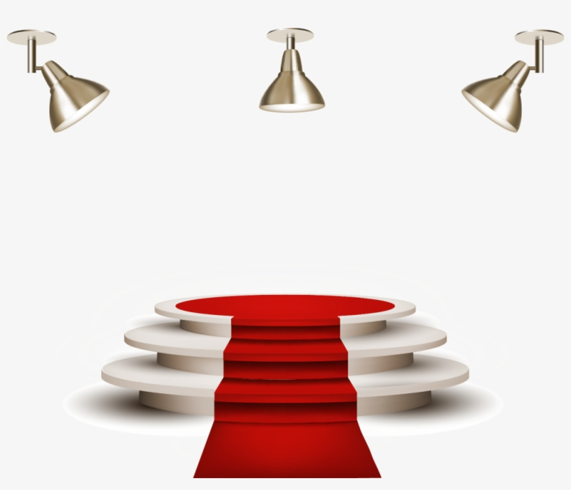 Stage Light Effect Png High Quality Image - Red Carpet Stage Png, transparent png #42422