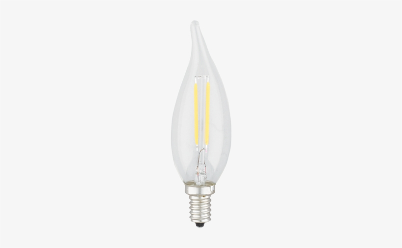 Candle Flame Tip Cri - Kodak Led Lighting 41167-ul 2w Led Light Bulb, transparent png #42459