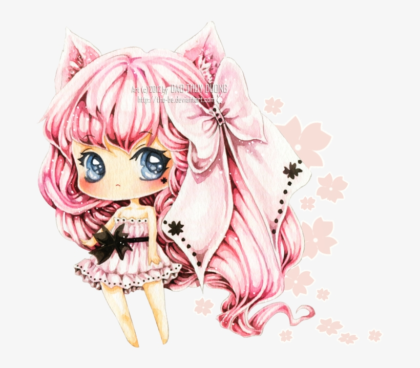 Black Sakura By Tho Be Cute Chibi Girl Transparent Background