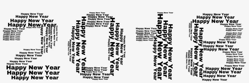 Picture Black And White Big Image Png - Happy New Year 2018 Png Transparent, transparent png #43189