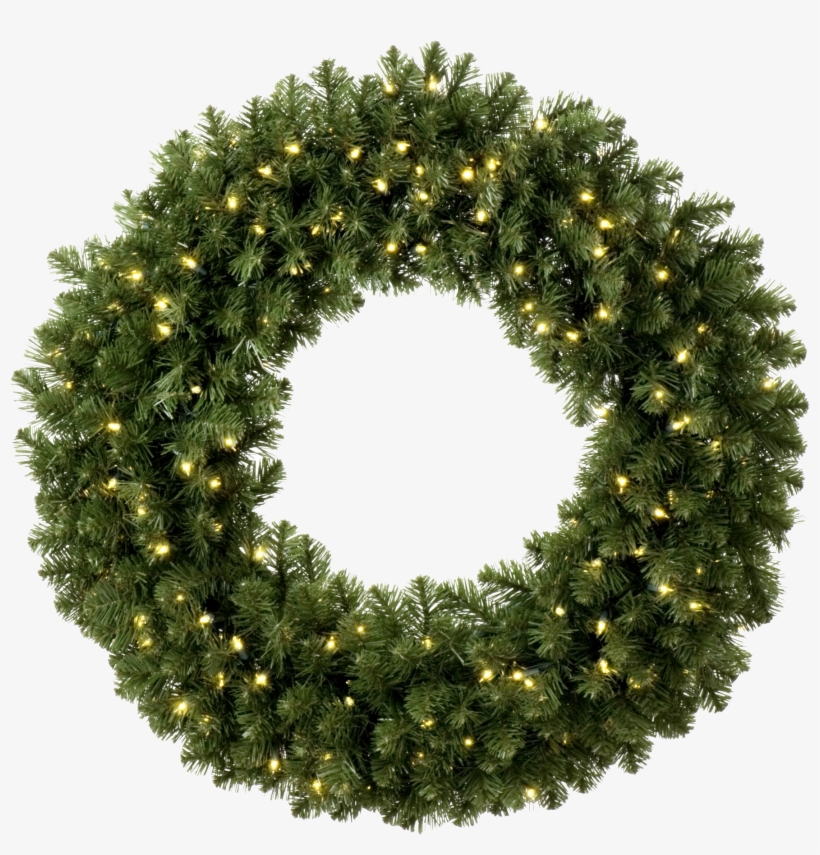 Wreath Clipart Light Png - Christmas Wreath With Leds, transparent png #43376