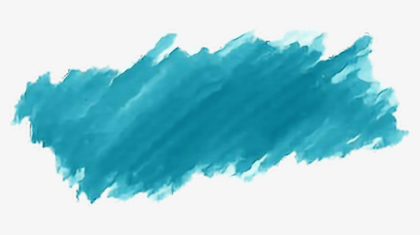 Watercolor Paint Brushstroke Blues - Watercolor Brush Stroke Png, transparent png #43441