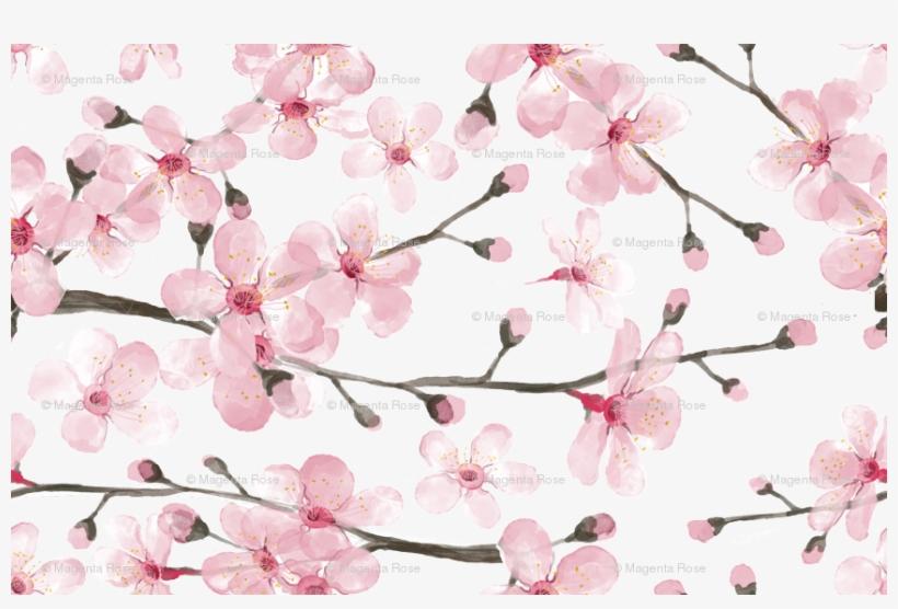 Cherry Blossom Watercolor // Cherry Blossom Floral - Cherry Blossom Watercolor Png, transparent png #43559