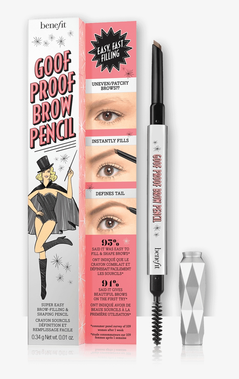 Goof Proof Eyebrow Pencil - Benefit Cosmetics Goof Proof Eyebrow Pencil, transparent png #43655