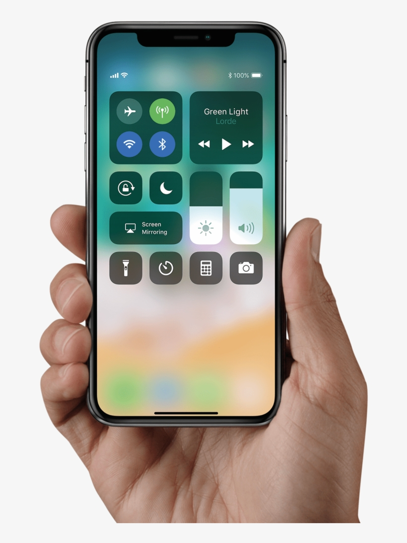 Iphone In Hand Holding Png - Iphone X In Hand, transparent png #43754