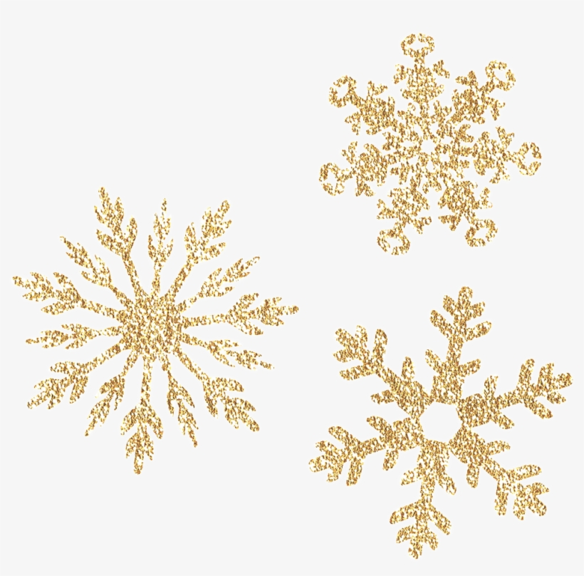 This Graphics Is Exquisite Golden Snowflake Transparent - Transparent Golden Snowflakes Png, transparent png #43878