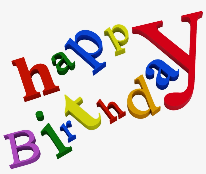Happy Birthday Png Text - Happy Birthday Words Png, transparent png #44416
