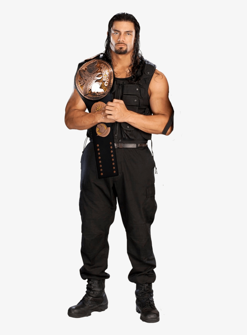 Celebrities - Wwe Roman Reigns Tag Team Champion, transparent png #44420