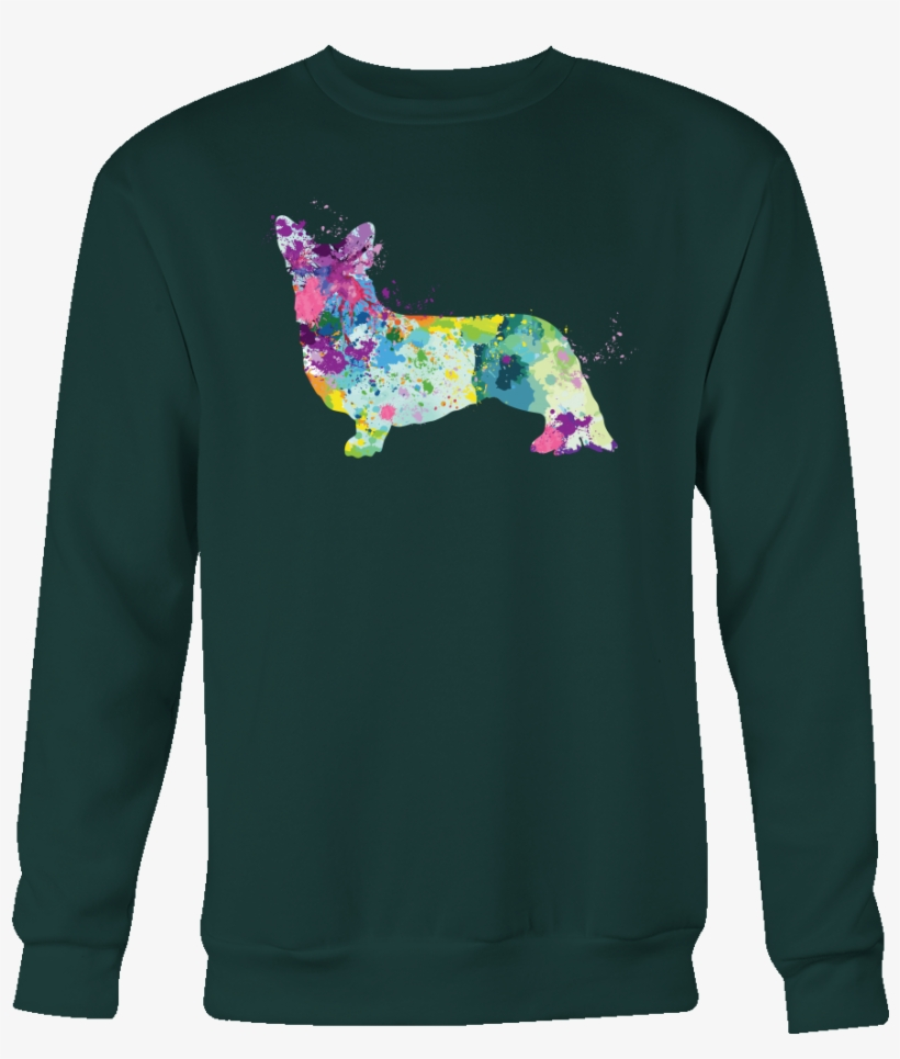 Welsh Corgi Cardigan In Watercolor Women's O-neck - Never Dreamed I D Grow Up, transparent png #44458