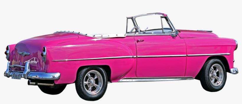 Cuba, Havana, Car, La Bella Americana, Almendron, Pink - Pink Car Transparent, transparent png #44500