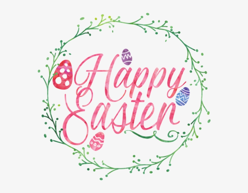 Easter, Wreath, Happy Easter, Watercolor, Watercolor - Happy Easter Png, transparent png #44598