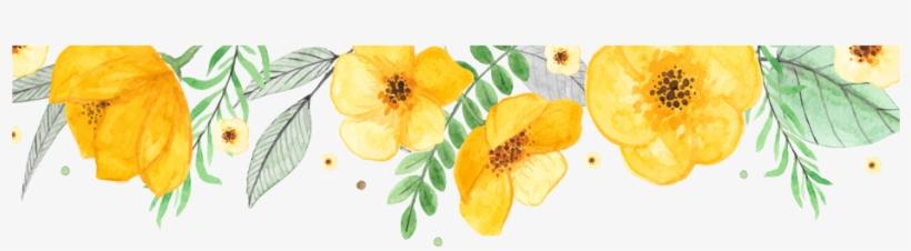 Watercolor Wreath With Flowers Png Download - Schöne Gelbe Blumen-elegante Romantische Hochzeit Papierservietten, transparent png #44758