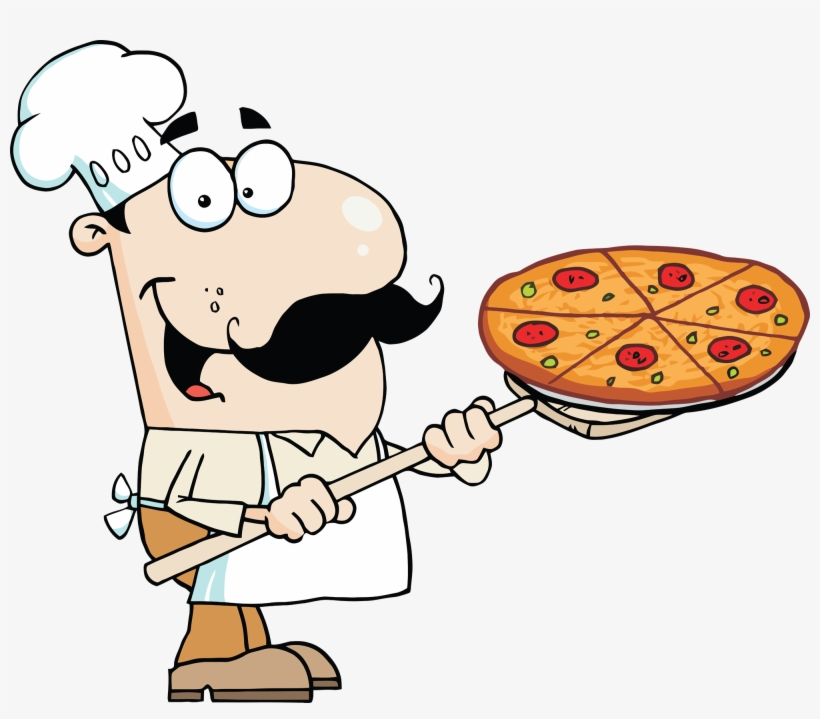 Rusty Pizza Cliparts - Pizza Guy Clipart, transparent png #45161