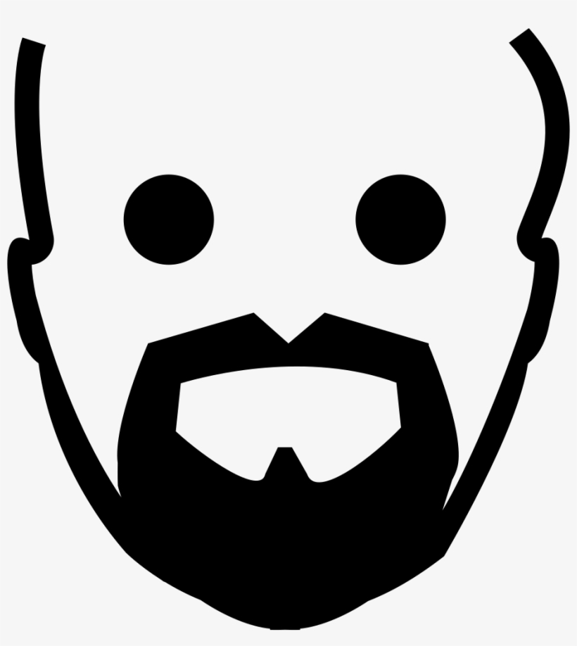 Beard goatee. Clip art black and