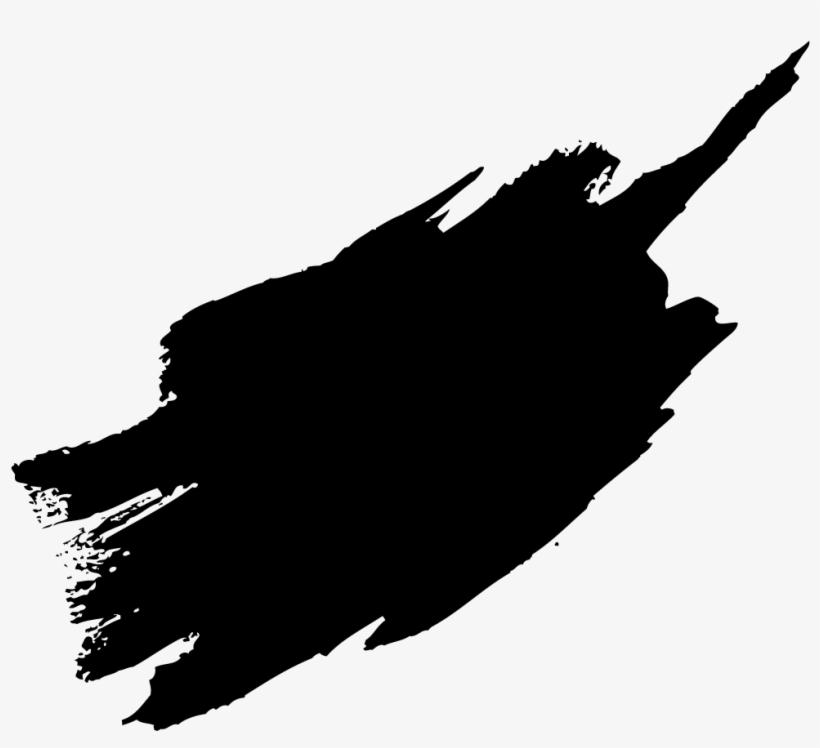 Black Paint Brush Stroke Png - Paint Brush Stroke Png, transparent png #45269