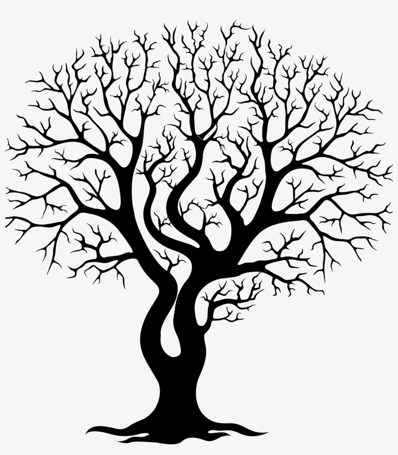 Image Gallery For - Bare Oak Tree Silhouette, transparent png #46095