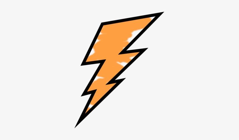 Orange Bolt Weather Storms Science Umbrella - Lightning Bolt Black And White, transparent png #46276