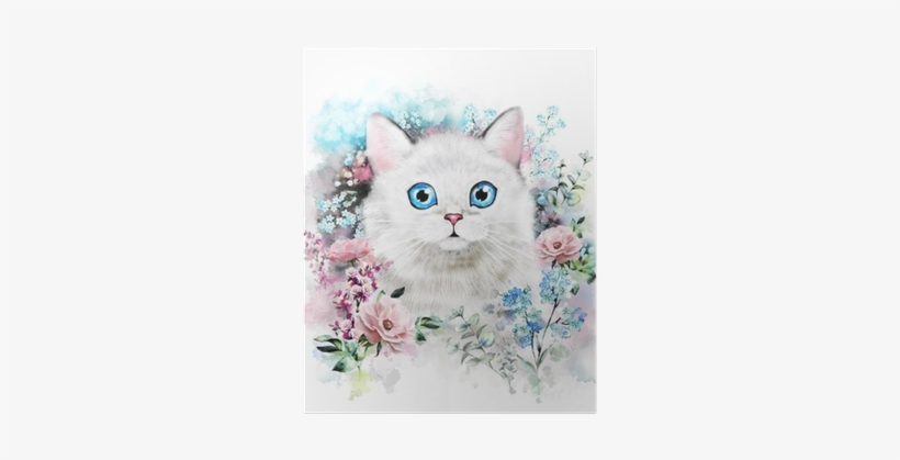 Watercolor Cat Illustration - Pinturas De Acuarela De Gato, transparent png #46298