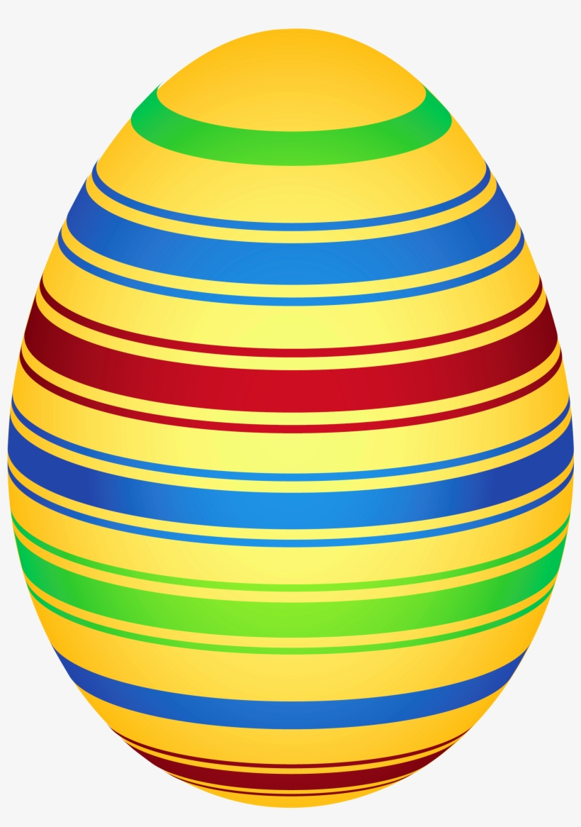 Yellow Colorful Easter Egg Png Clipairt Picture - Easter Egg, transparent png #46574