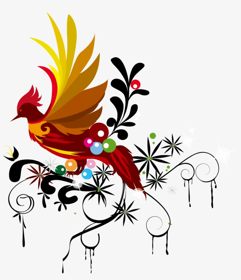 Drawing Phoenix Watercolor Banner - Vector Graphics, transparent png #46639