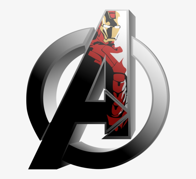32 Images About Iron Man On We Heart It - Avengers Logo Iron Man, transparent png #46862
